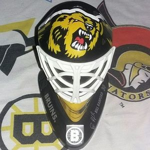 1998 Boston Bruins Bill Ranford Goalie Mask Helmet